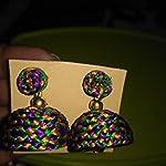 Silk thread Multi colour Traditional Jhumki Earring