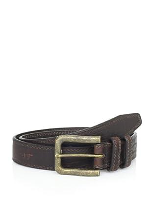 Vintage Bison Men's Saddleback Belt (Big Horn Mahogany)