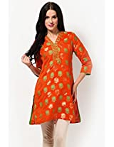 Orange Printed Kurtis Biba