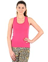 Pink Solid Camisole Slip For Women'sXL