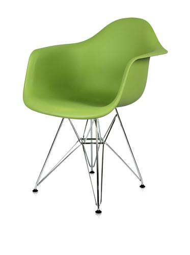 Mid-Century Eiffel Dining Arm Chair (Green)