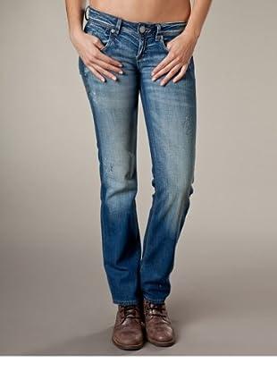 LTB Jeans Clay Straight Leg Low Rise (Dunkelblau/Grau)