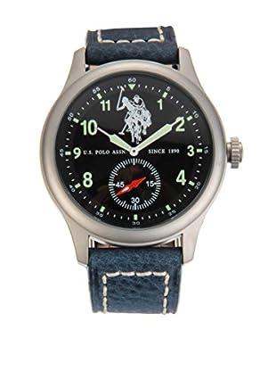 U.S. POLO ASSN. Uhr mit japanischem Quarzuhrwerk Hook hellblau 44 mm