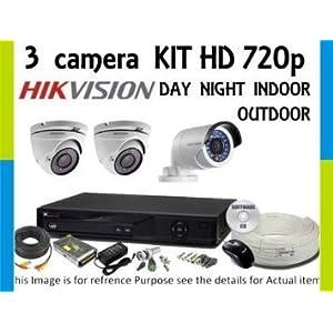 Hikvision 8 Channel HD DVR & Recording 3 HD CCTV Camera Kit