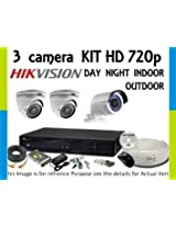 Hikvision 8 Channel HD DVR & Recording 3 HD CCTV Camera Kit
