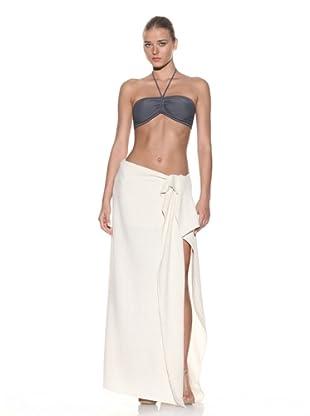 Chris Benz Women's Luxury Silk Sarong (White)