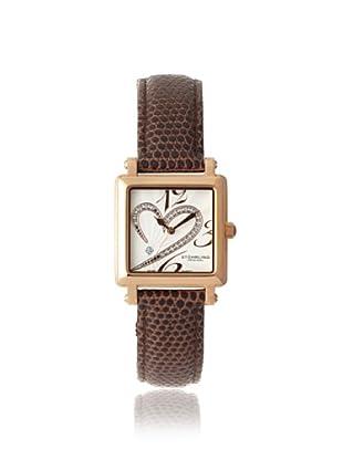 Stuhrling Original Women's 253.1145K2 Amour Aphrodite Courtly Diamond Swiss Brown Leather Strap Watch