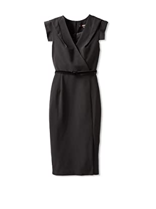 Single Women's The Wrap Victoria V-Neck Dress (Black)