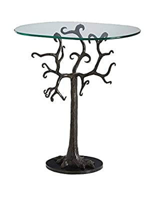 Arteriors Home Isadora Side Table, Black/Clear