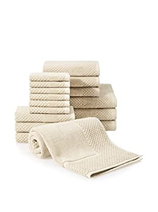 Chortex Honeycomb 16-Piece Towel Set, Almond