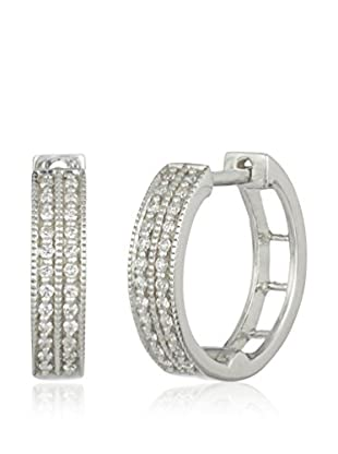 Bentelli Pendientes 9K Gold 0.14Ct Diamonds Oro Blanco