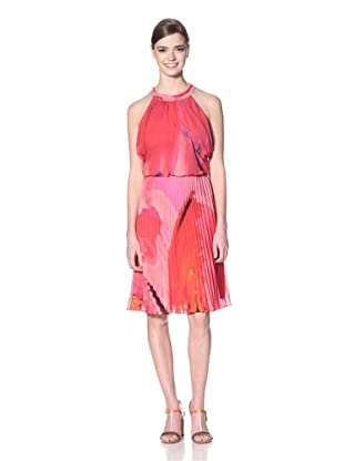 Vince Camuto Women's Draped Dress with Pleated Skirt (Grace)