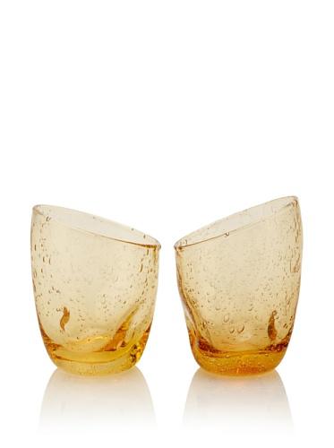 Tivoli Set of 2 Wine Glasses (Amber)