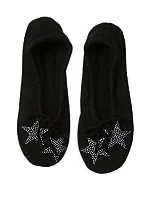 a & R Cashmere Star Crystals Slipper , Black