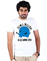 Enquotism White Combed Cotton Fabric Round Neck Men Tshirt-XL Oswald -Apna Hath Jagannath White -XL