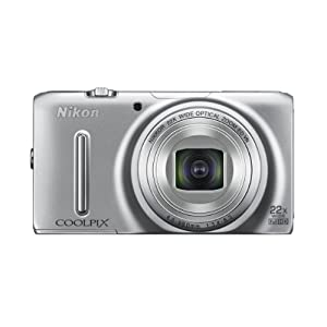Nikon Coolpix S9500 18.1MP Point-and-Shoot Digital Camera (Silver) with 4GB Card, Camera Pouch, HDMI Cable