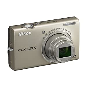 Nikon Coolpix S6200 16MP Point and Shoot Camera (Silver) with 4GB Card and Camera Case
