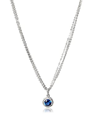 CZ by Kenneth Jay Lane 3Cttw Round Cz Pend/Neck Pave Halo 16