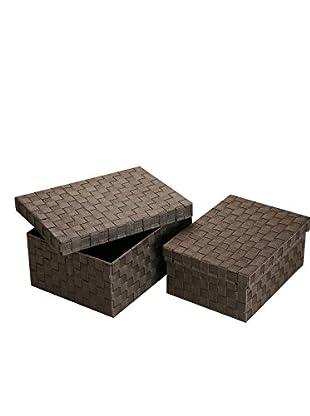 Zings Aufbewahrungsbox 2er Set schokolade