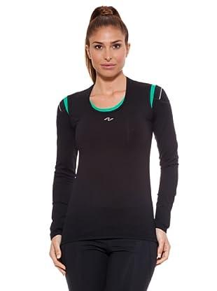 Naffta Camiseta Manga Larga Nevecl (Negro / Verde)