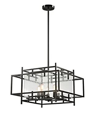 Artistic Lighting Intersections Collection 5-Light Pendant, Oil Rubbed Bronze