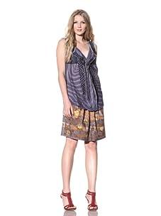 Gregory Parkinson Women's Zebra Cotton Top (Purple)