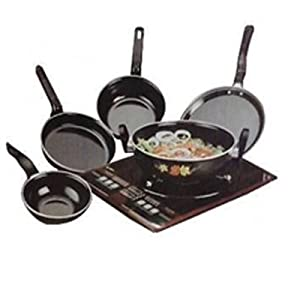 Gauba Traders 5 PC Cook And Serve Set (LPG and Induction)