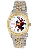 Marvel Comics Men's W000560 Spider-Man Two-Tone Status Watch