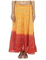 Rajrang Vintage Women Long Tie Dye Sequins Skirts