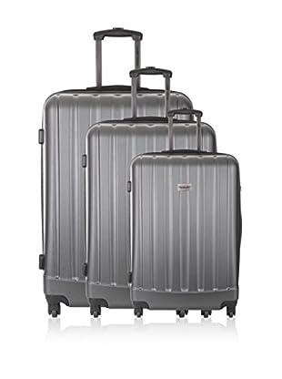 Travel ONE Set de 3 trolleys rígidos Wigan Gris