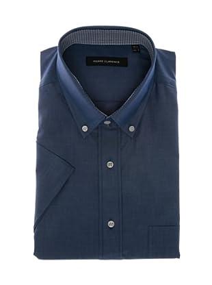 Pierre Clarence Camisa de manga corta (Azul oscuro)