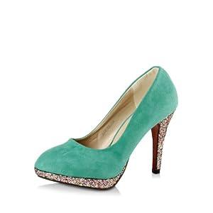 Glittery Heel Pumps