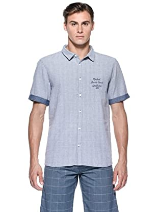 Rip Curl Camicia Bondi Ss Shirt (Blu)