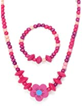 Angel Glitter Pink Baby Heart Jewellery Set for Kids (AG_NB_SF)