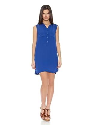 Springfield Vestido Poli Shirtwaist Dress (Azul Eléctrico)