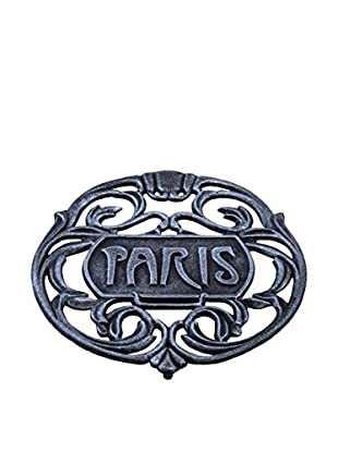 Old Dutch International Paris Trivet, Antique Pewter
