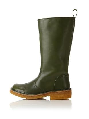 Swedish Hasbeens Women's Worker Boot (Dark Green)