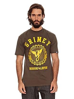 Grimey Wear Camiseta Logo Core (Verde Militar)