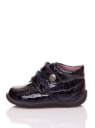 Pablosky Stiefel Lackleder und Kroko (Marine)