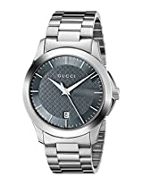 Gucci Mens YA126441 G-Timeless Analog Display Swiss Quartz Silver Watch