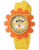 "Frenzy Kids' FR2006 ""Lion Critter Face"" Watch with Yellow Rubber Band"
