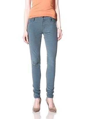James Jeans Women's Skinny Corduroy Pant (Mid Teal)
