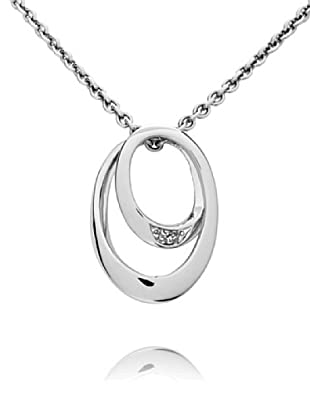 Secret Diamonds Colgante Aros Plata 925 Diamante