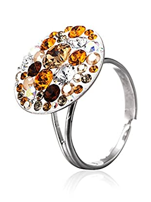 SWAROVSKI ELEMENTS Anillo Small Crystals Brandy