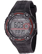 Sonata Super Fibre Digital Grey Dial Men's Watch - NF7949PP01J