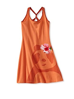 Zolima Panda Girl's Dress with Appliqué (Mandarin)