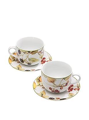 Tognana Kaffeetasse mit Untertasse 2er Set Metropolid Cordoba