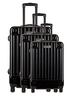 Creation Olivier Lapidus Pour Platinium Set 3 Trolley 4 Ruedas Design (Negro)