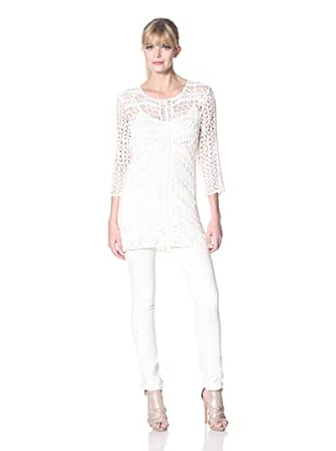Zero Degrees Celsius Women's Crochet Sweater (Ivory)