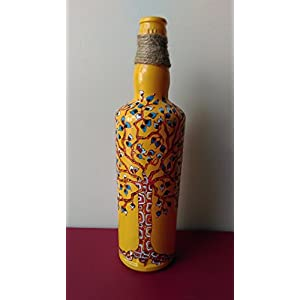 Artiliciously Your'S Tree1 Painting On Recycled Glass Bottle